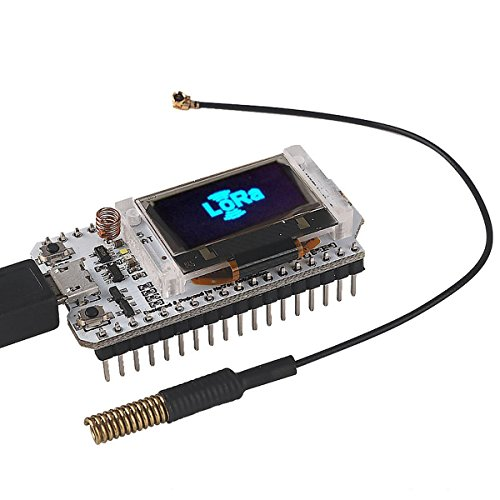 MakerFocus ESP32 Development Board WIFI Bluetooth LoRa Dual Core 240MHz CP2102 with 0.96inch OLED Display and 433/470MHz Antenna for Arduino by MakerFocus