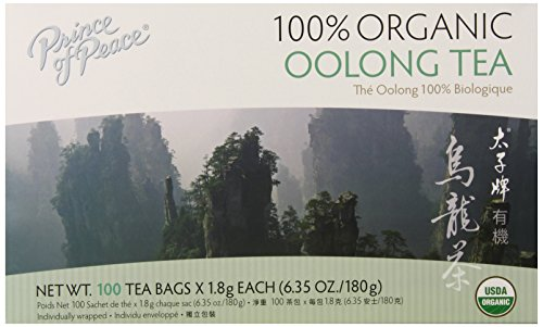 Prince of Peace Organic Tea, Oolong, 100 Tea Bags - Prince Organic Tea