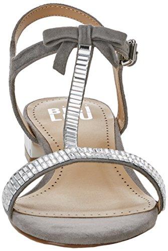 bibi Sandalia with an Strap Sandals lou Silver Women's Ankle Plana Silver qq7wxUSr
