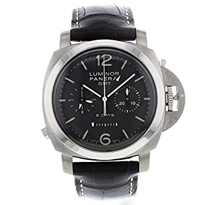 Panerai Men's PAM00311 Luminor 1950 8 Days Chrono Monopulsante GMT Titani Chronograph Watch