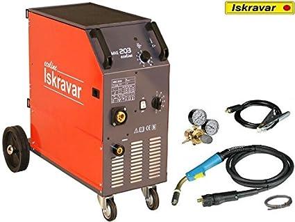MIG MAG 203 eco de soldadura ISKRA equipo de soldadura dispositivo ISKRAVAR: Amazon.es: Industria, empresas y ciencia
