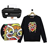 RUSPEPA 11.69 x 8.26 inches Inkjet Printable Transfer Paper Iron-on Black or Dark Fabric T-Shirt Transfers, A4 Sheets 5 Sheets
