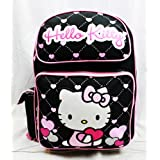 Hello Kitty Backpack Black - Glitter Purple Heart