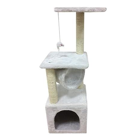 Blackpoolal 90 cm Rascador grandes Gatos Estable gato algodón Escalada Árbol para gatos gato Muebles alternativa