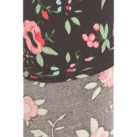 - 51A09 aBCaL - Print Leggings Red Rosebud (SLE-1072)