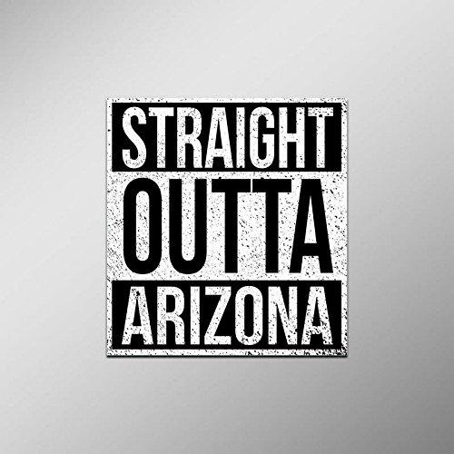 Straight Outta Arizona Vinyl Decal Sticker | Cars Trucks Vans SUVs Laptops Walls Windows Cups | Full Color | 4.5 X 5 Inches | KCD2076