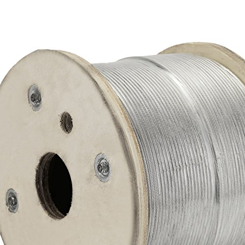 """LOVSHARE 1/8"""" 1000FT Wire Rope T316 Stainless Steel Cable Railing 1x19 Strand Core Cable Reel by LOVSHARE (Image #7)"""