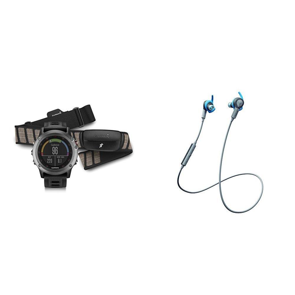 Fenix 3 with Jabra Bluetooth Headphones by Garmin