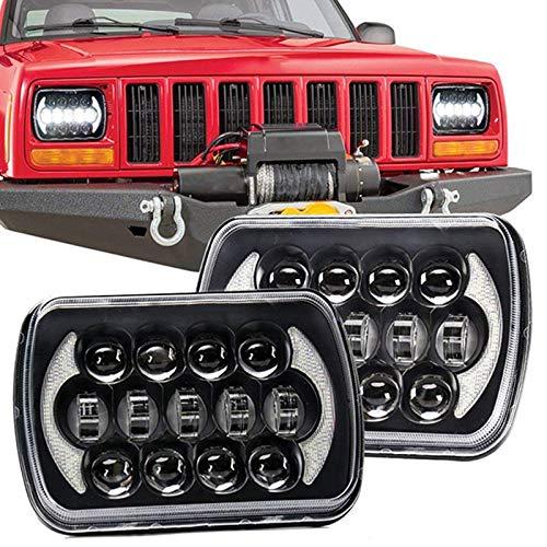 Domilay/210W 5X7 Pulgadas 7X6 Pulgadas Proyector LED Faro DRL con Arn/éS H4 para Chevrolet Jeep Cherokee XJ Toyota Tacoma y 88-95 Pickup 1Pcs