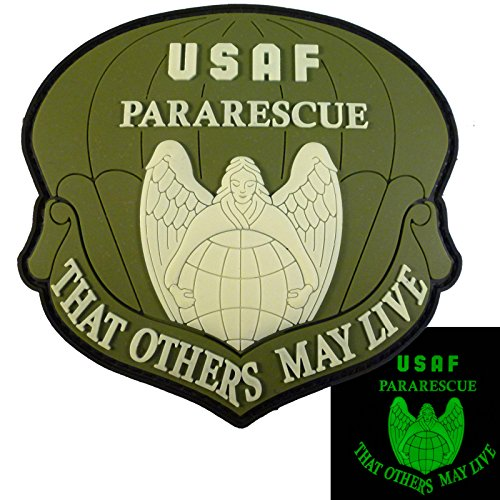 (THAT OTHERS MAY LIVE USAF Pararescue Olive Drab Multicam Glow Dark PVC Touch Fastener Patch )