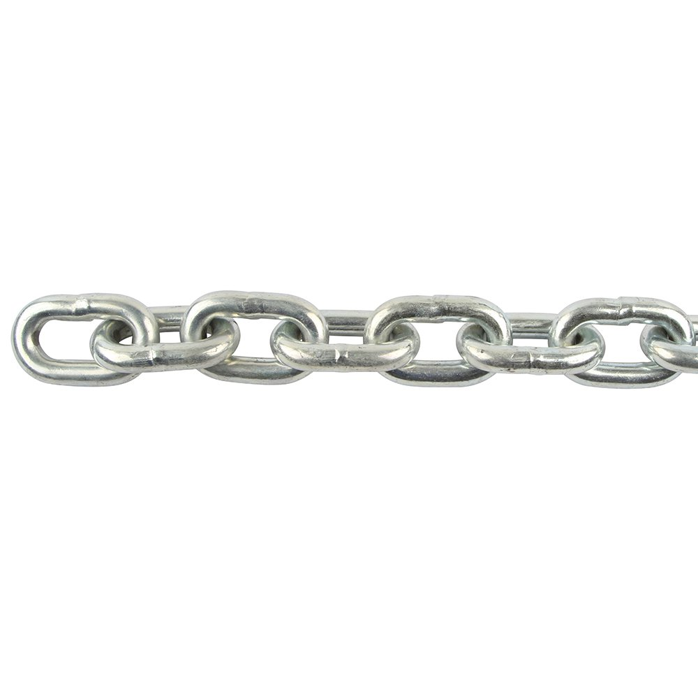 Perfection Chain Products 54219 3 8 Proof Coil Chain Plated Steel Zinc 45 FT Pail