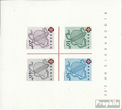 Franz. Zone-Baden block2i (Complete.Issue.) Tested with Attest 1949 Red Cross (Stamps for Collectors) Red Cross