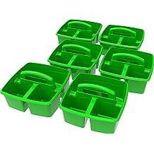"Storex Classroom Caddy, 9.25 x 9.25 x 5.25"", Green, Case of 6 (00951U06C)"