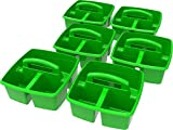 Storex Classroom Caddy, 9.25 x 9.25 x 5.25'', Green, Case of 6 (00951U06C)