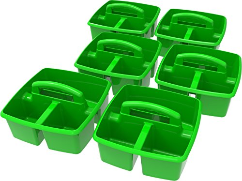 Storex Classroom Caddy, 9.25 x 9.25 x 5.25'', Green, Case of 6 (00951U06C) by Storex