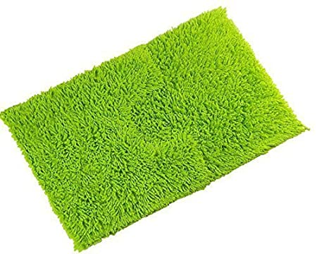 luxury thick chenille twist 100 cotton lime green soft bathroom bath mat set