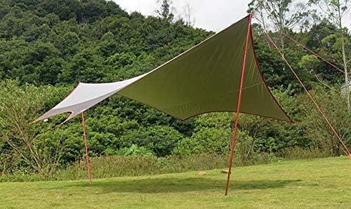 HCTX Grande Taille 6 * 5.5m   5 * 4.7m Aluminium et de Fer pôle Couvercle Maxi-revêtu d'argent/pavillon/auvent/Tente,L Size Aluminum Pole L Size Iron Pole