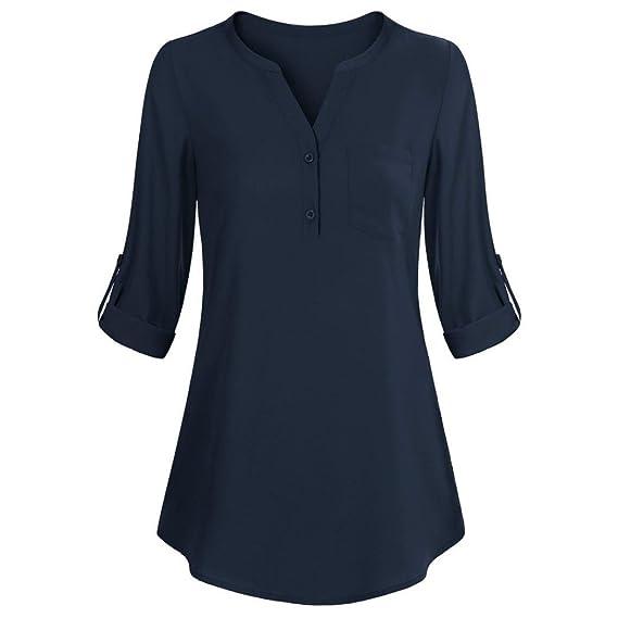 FAMILIZO_Camisetas Mujer Tallas Grandes Camisetas Mujer Verano Tops Mujer Primavera Camisetas Mujer Largas 2018 Otoño Camisetas