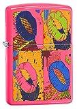 Zippo Neon Lips Pocket Lighter, Neon Pink