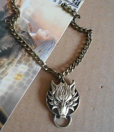 Price comparison product image Final Fantasy VII Wolf's Head Werewolf Pendant Necklace