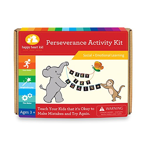 Life Skills Activity Kit - Cognitive Development and Educational Games and Crafts - Perseverance Activity Kit for kids Ages 3-6 years