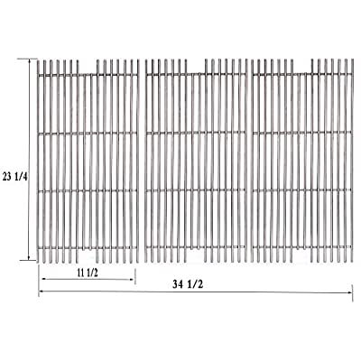 Votenli S5491A (3-Pack) Stainless Steel Cooking Grid Grates Replacement for Select Viking Gas Grill Models