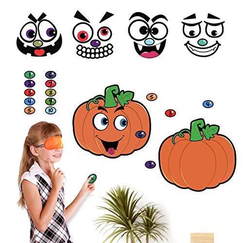 Toyvian Halloween Stickers Pin the Pumpkin Game Stickers for Halloween Trick or Treat Pumpkin Carving Decorating