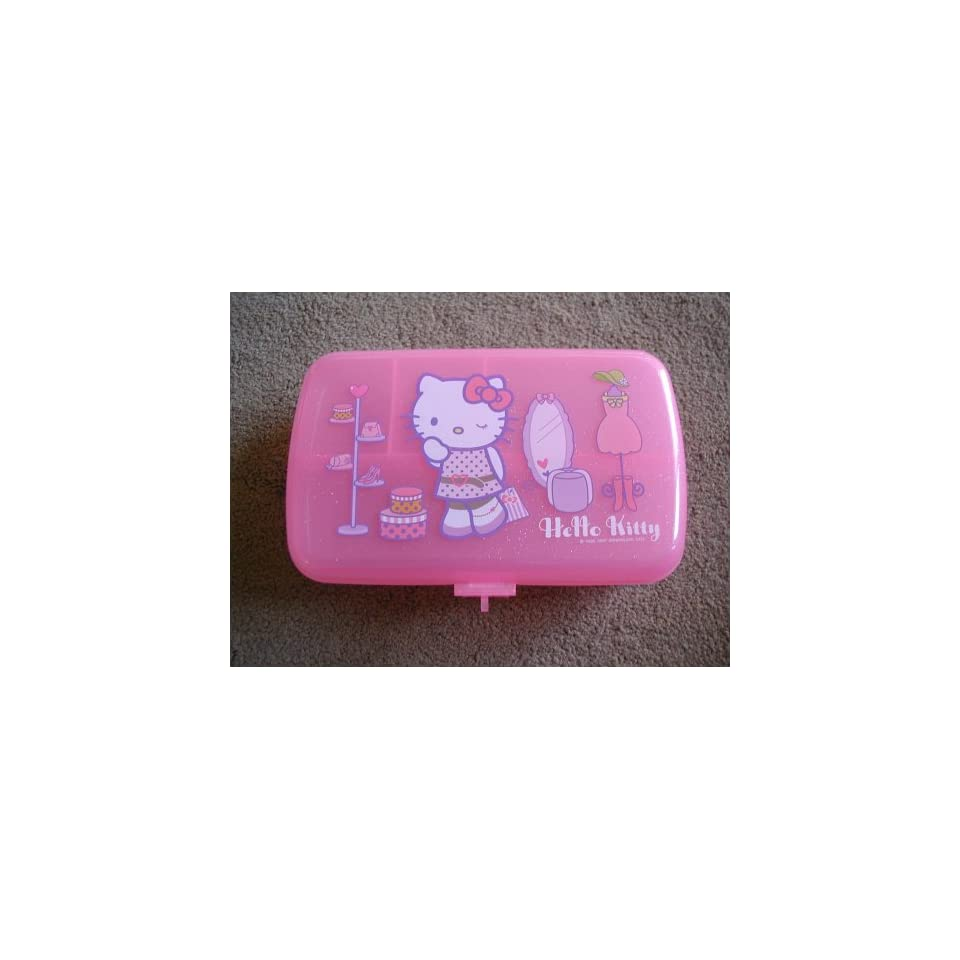 Hello Kitty Cat Pink Jewelry Box / Storage Case   with Lock and Keys   Great Gift Giving Idea for Women and Girls