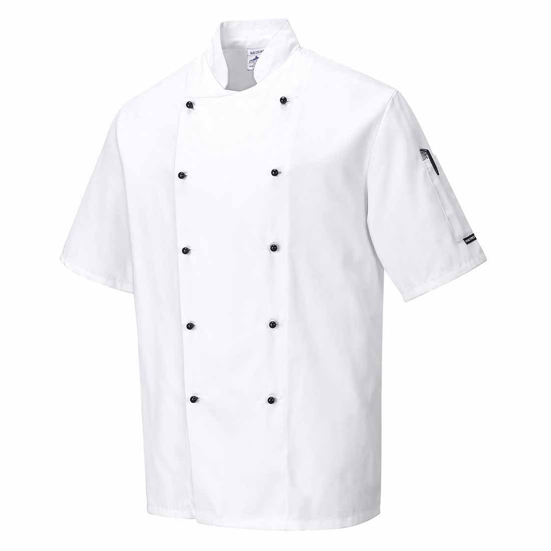 Regular X-Small Black Portwest C734BKRXS Kent Chefs Jacket