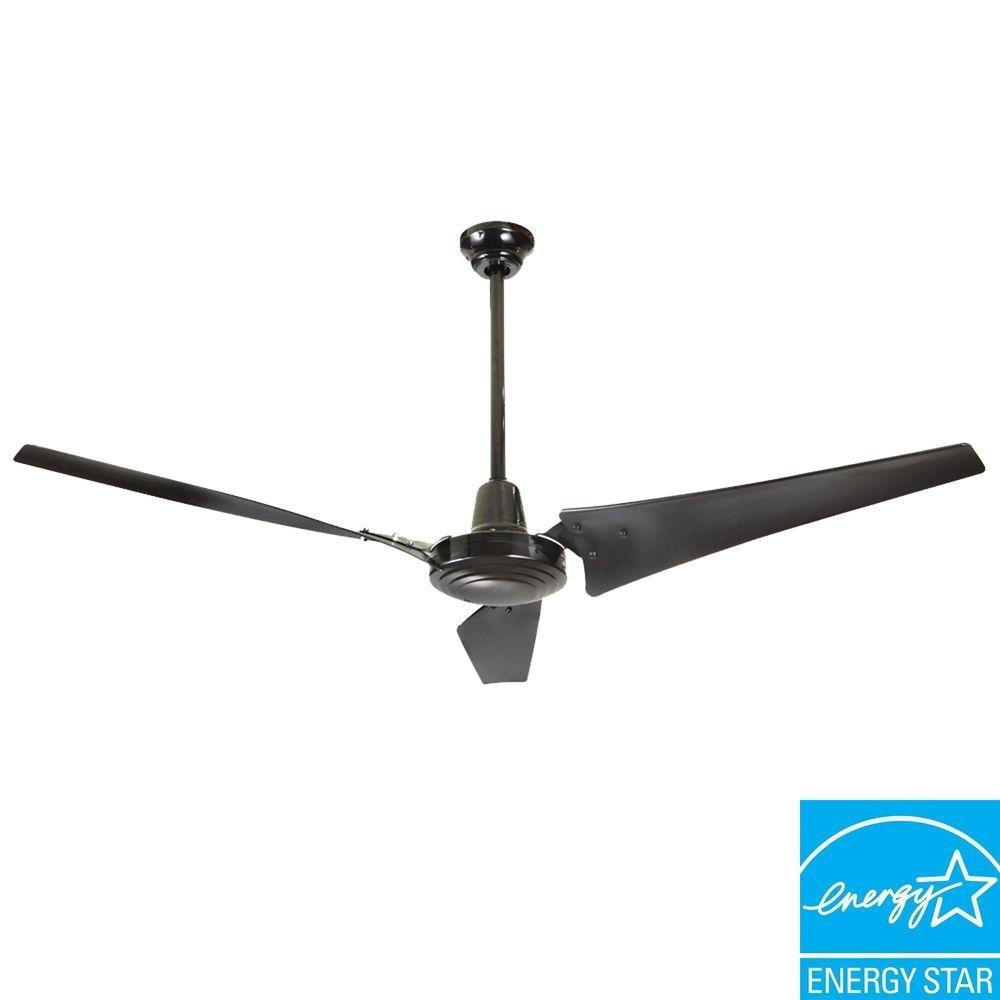 Industrial 60 In Black Energy 13 7 H X W Matte Ceiling Fans Com