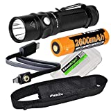 Fenix RC11 1000 Lumen USB rechargeable CREE LED Flashlight EDC with Fenix 18650 Li-ion battery , and EdisonBright BBX3 battery carry case bundle