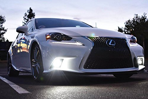 iJDMTOY Lexus F-Sport 15W High Power Projector LED Fog Light Kit For 2014-2016 Lexus IS200t IS250 IS300 IS350, 6000K Xenon White by iJDMTOY (Image #5)