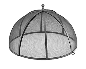 """Good Directons 37"""" Spark Screen for Fire Pit and Paver Pit, Hinged, Heavy Duty, Easy Access"""