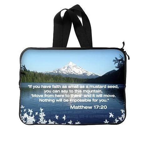 Christian versículos de la Biblia para ordenador portátil nuevo con cremallera/Funda para portátil bolsa