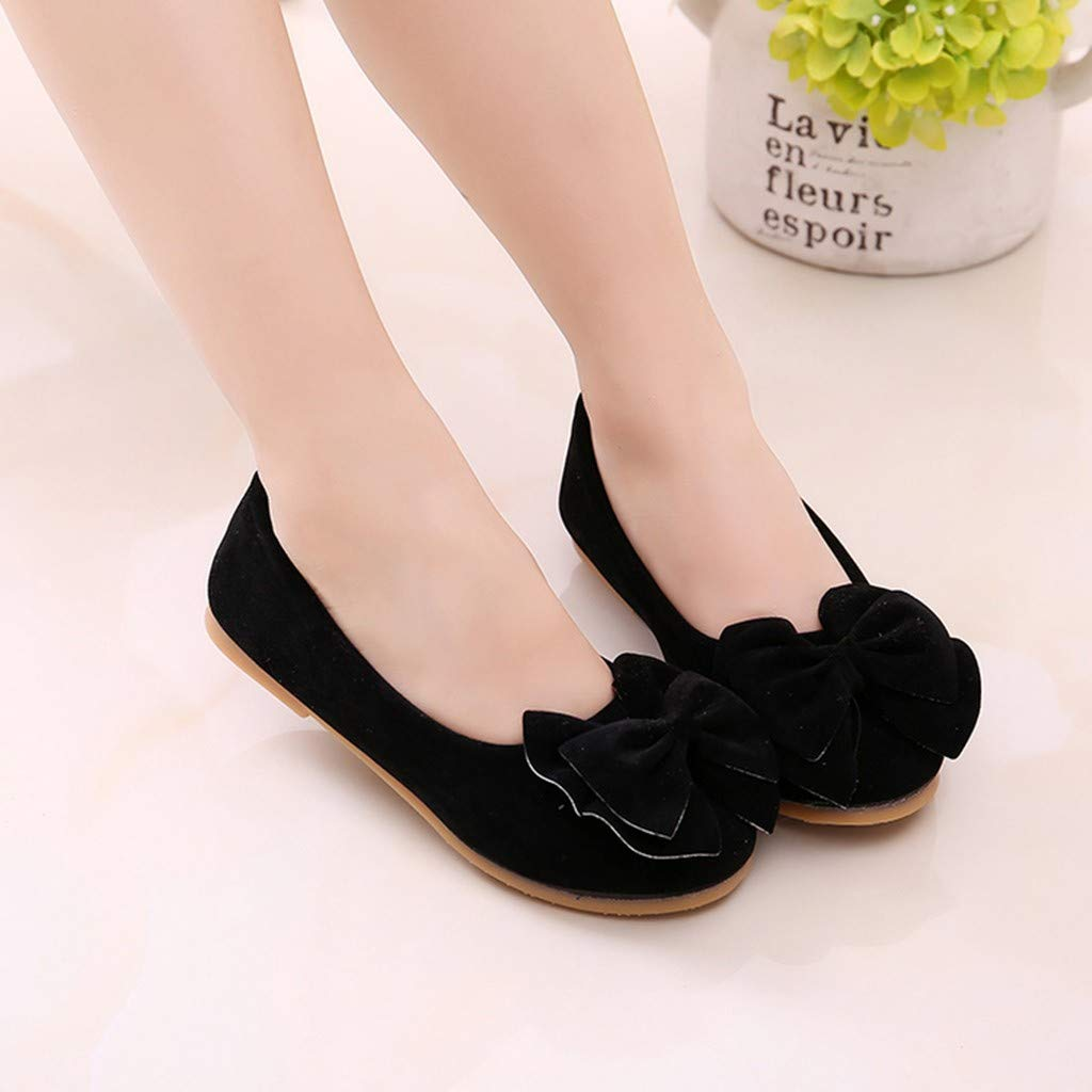 Kstare Kid Baby Girls Children Fashion Spring Summer Bowknot Student Soft Party Weding Dance Princess Shoes