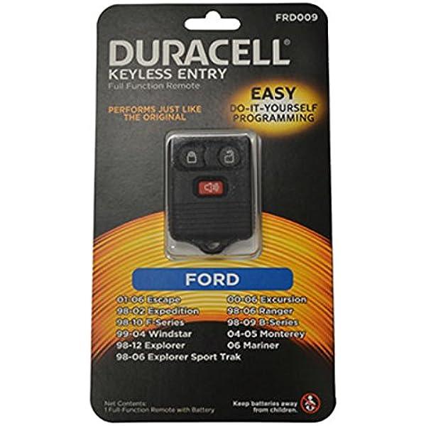 New Duracell Brand 3 Button Ford Keyless Remote CWTWB1U331 Hillman Group Rsc