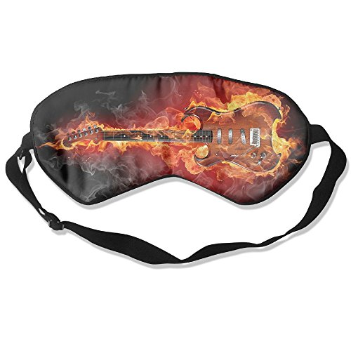 (Silk Sleeping Mask Eye Guitar Flame Fire Lightweight Soft Adjustable Strap Blindfold For Night's Sleep Nap Travel Eyeshade Men And)