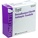 PDI Healthcare D35185 Hygea Benzalkonium Chloride Antiseptic Towelette, 5.5'' Width, 7.0'' Length (Pack of 100)