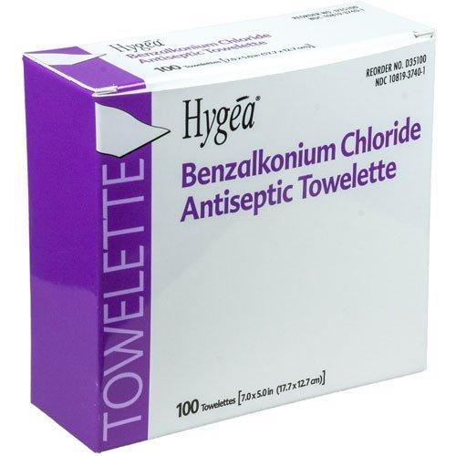 - PDI D35185 BZK Antiseptic Towelettes, Case, 20 Boxes, 2000 Wipes,