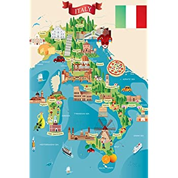 photo about Printable Maps of Italy titled : Italian Vacationer and Push Places