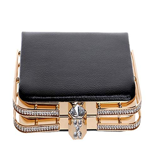 Fly European Fashion Color evening Ladies Bag Evening Bag Clutch Dress American BLACK And Black bag Dinner RBwxdrRq
