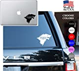 "Game Of Thrones House Of Stark Winter Is Coming Series HBO Vinyl Decal Sticker - Car Window, Laptop Skin, Wall, Mac (5.5"" inches, White)"