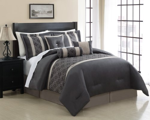 - 7 Piece Cal King Renee Embroidered Comforter Set