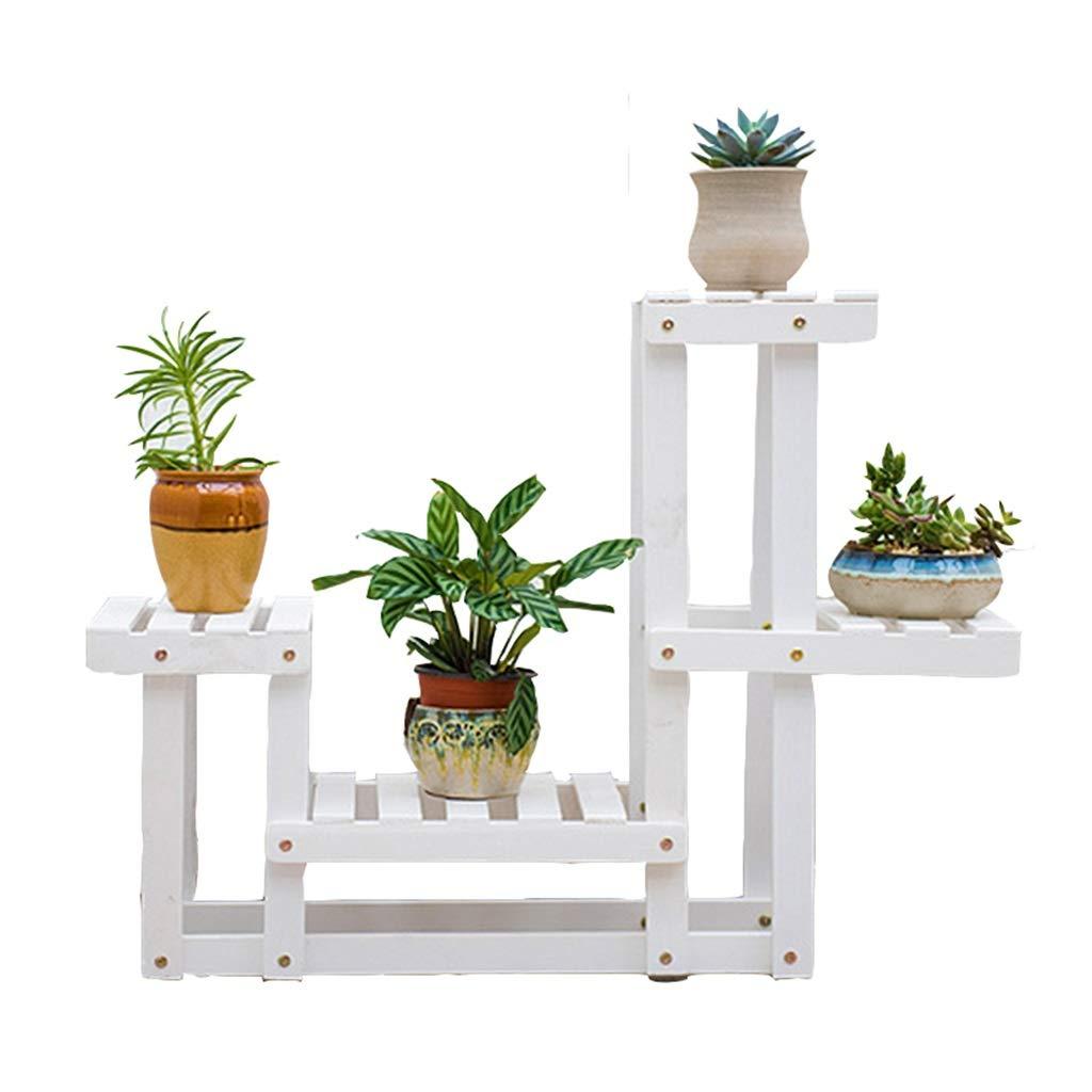 DaPeng Flower Stand, può Essere Montato in Legno multipiano in Legno Bonsai da Interno Balcone Soggiorno pianta Pot Rack (Senza IMPIANTI)