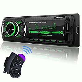 SjoyBring Bluetooth Car Stereo with Wireless SWC Remote and Phone Charging Port, Hands Free Calling, USB/TF Card/Aux-in… 8
