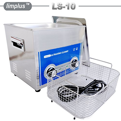 limplus Professional Ultrasonic Cleaner 10liter with Stainless Steel Lid for Jewelry Sunglasses Clean 30minutes Cleaning - Components Sunglass
