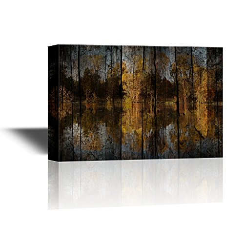 Abstract Landscape with Woods by the Lake and Reflection on Water Gallery