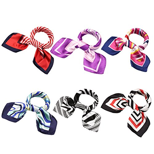 - BMC 6 pc Womens Large Size Mixed Color Design Soft Wrap Scarf Accessories - Set 1: Linear Designs