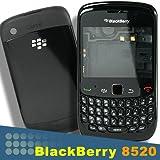 OEM Blackberry Curve 8520 Full Housing Black Faceplate Trackpad Screw Holder