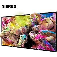 NIERBO Metal Projector Screen 2.4 Gain Light Rejecting Movies Screen 200 inch